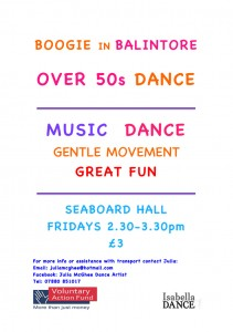 Boogie in Balintore Over 50s Dance Class Poster